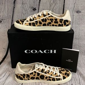 Coach Canvas Leopard Print Sneaker - NIB